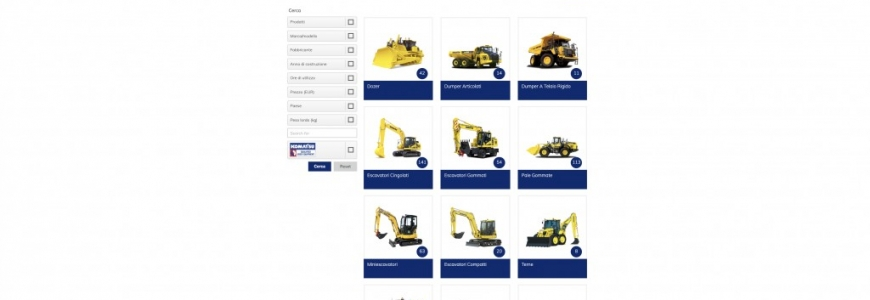 used.komatsu.eu/ : the new Komatsu second hand machineries webshop!