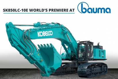 SK850LC-10E: KOBELCO LAUNCHES ITS NEW EXCAVATOR, THE HUGEST IN EUROPE