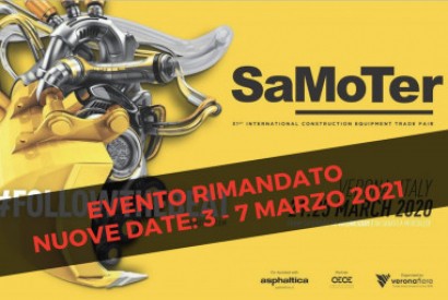 New dates for the SaMoTer fair in Verona: 3-7 March 2021